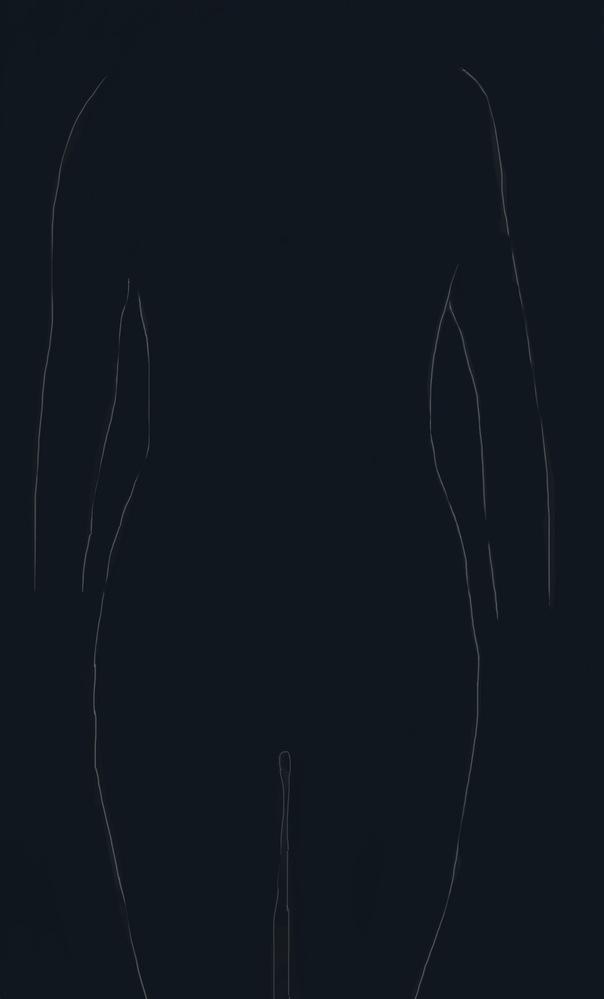 骨格診断をお願いしたいです!! 写真を線?にしたものですがこちらを診断していただきたいです。 これだけでわかりますか ?