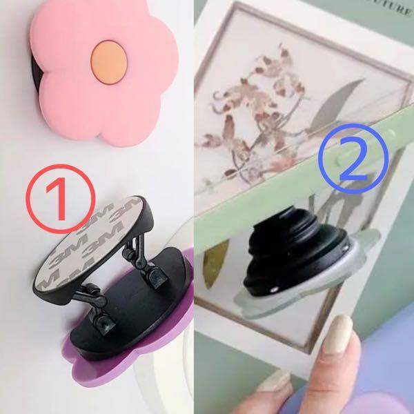 iPhone ケース ポップソケット リング 韓国 ①と②どちらのタイプが使いやすいですか? ①は指が痛くなると聞いたことがあり、 ②指を通すわけではなく挟むだけなので、 落としてしまうかなと...
