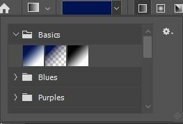 フォトショップに関しての質問です。basicsの中にある真ん中のグラデーションを使おうとしてもバケツみたいに全画面塗ってしまいます。 右のやつと左のやつはちゃんんと使えます。何か解決策はないでしょうか?