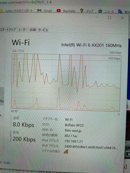このwifi接続は普通ですか? windows10でzoomしているところです。