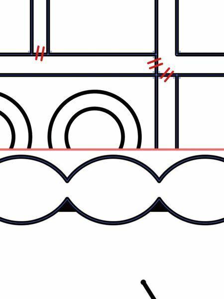 Illustratorについて質問です。 1.画像上。赤斜線の部分を削除して繋げるにはどうしたら良いでしょうか。パスファインダーを使うと線画全部消えて大きな外枠だけになってしまいます。 2.画像下。画像の谷の部分のようにパスのない部分に黒塗りの範囲が発生します。試しに図を回転させてみると同一の部分に黒塗りが発生します。 した方向にだけ出現するようです。移動してみても同様で、違うパスが重なっ...