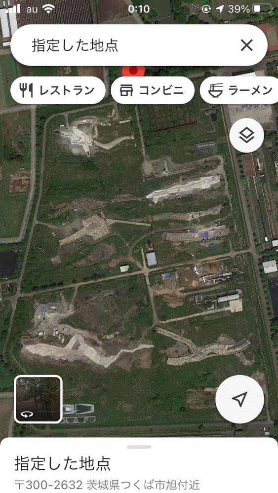 【航空写真】なんの施設だと思われますか?つくば市旭付近。 ちなみに画像中心にオレンジ色の塔らしきものが建っています。