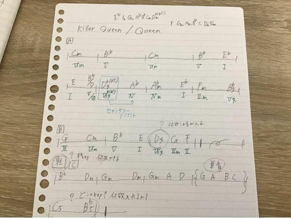 楽曲分析の添削、はてなで記してる三つの疑問点に答えていただきたいです また他に間違え、追加で書いとくべき場所もあれば書いていただけると幸いです よろしくお願いします