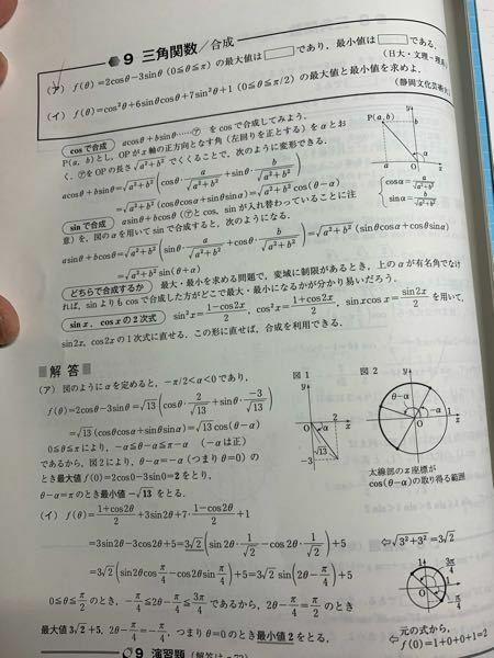 アの問題の解説でθ-α=-αとありますが、これどういうことですか?