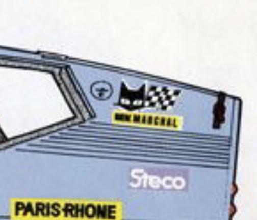モーターレースに詳しい方に伺います。 この猫とチェッカーフラッグのステッカーは 何のステッカーなのでしょうか?