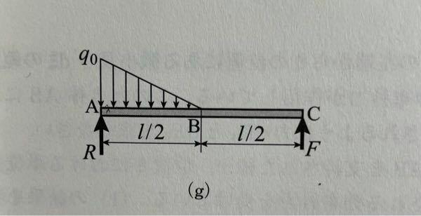 材料力学の問題です。 力RとFを求めてほしいです!!お願いします。