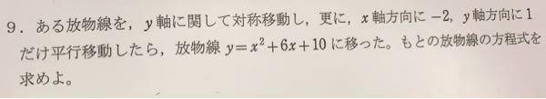 数1の問題で この問題の解がなぜy=x²-2x+1になるのかが分かりません。