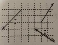 ベクトルの足し算引き算について。数Bです。どうやって解くのか教えていただきたいです。 問題はベクトルa - ベクトルb + ベクトルc です。