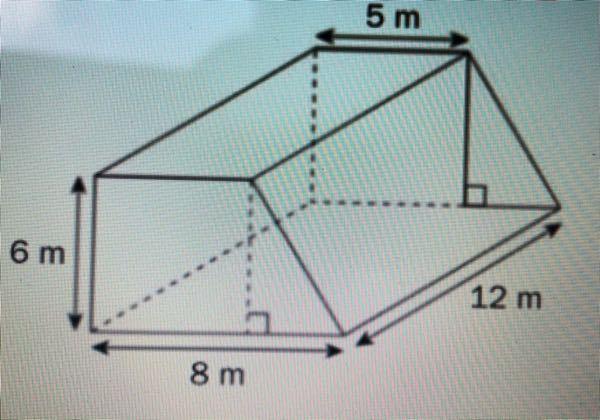 どなたか、この立体の表面積の求め方と答えを教えてください。 回答宜しくお願いします。