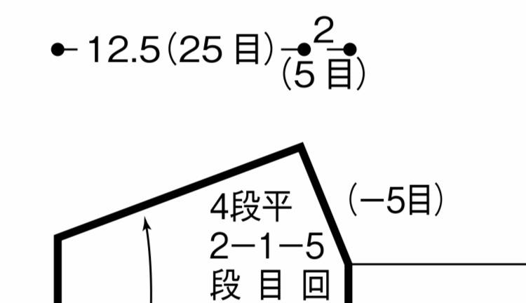 棒針編みについてお聞きしたいです。 とある編み図を見ているのですが、この三角形なってどう編むのでしょうか。 引き返し編みだと思うんですけど、両端から引き返し編みしたら最後の伏せ目とかどうなるのでしょうか? 右側は 2-5-1 2-4-4 (4目) と書いてあります。 右は10段、左は14段です。 なので、左側4段あめたところで右側も引き返し編みをするのかな〜と思っているのですが、最後頂点で終...