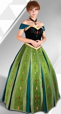 アナ雪にて、アナの戴冠式のドレスをコスプレで再現するには? . 「アナと雪の女王」の主人公であるアナの戴冠式での衣装についてですが、 この画像を見てもらってわかる様に、 スカート部分が大きくフワッと膨らんだデザインのドレスを着ていますよね。  そこで思ったのですが、 このドレス姿のアナのコスプレをするとしたら、 この膨らんだスカートはどうやって再現すればいいでしょうか? どうすればこの様なド...