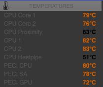 Macbookairを使っているのですが, CPU温度が80℃なのにヒートパイプが50℃って変じゃないですか? ヒートパイプに熱が伝わっていない? ブラウザ開いているだけなのに,ファンがブンブン回っています.