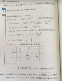 教科書に「f'(x)=0は極値になるための、必要条件」とあったのですが、この問題(同様の教科書から抜粋)ではx=aで微分可能でないのに、 極値になっていますが、これではf'(x)=0が必要条件といえなくないですか?(;^_^A
