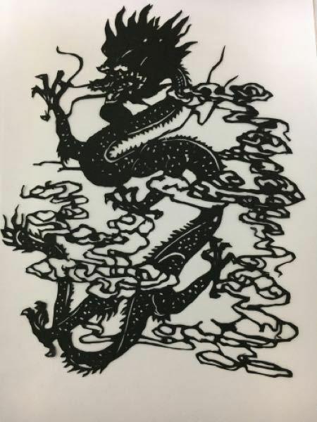 今日中に返信ください! この龍の切り絵に色をつけるとすると、どんな感じにしますか?