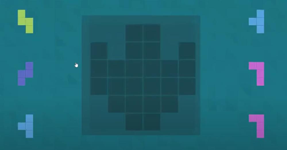 パズルの問題です。 6つのテトリスのパーツを、真ん中の図形に当てはまるとどうなりますか? どなたか図示して教えて下さい(;_;)