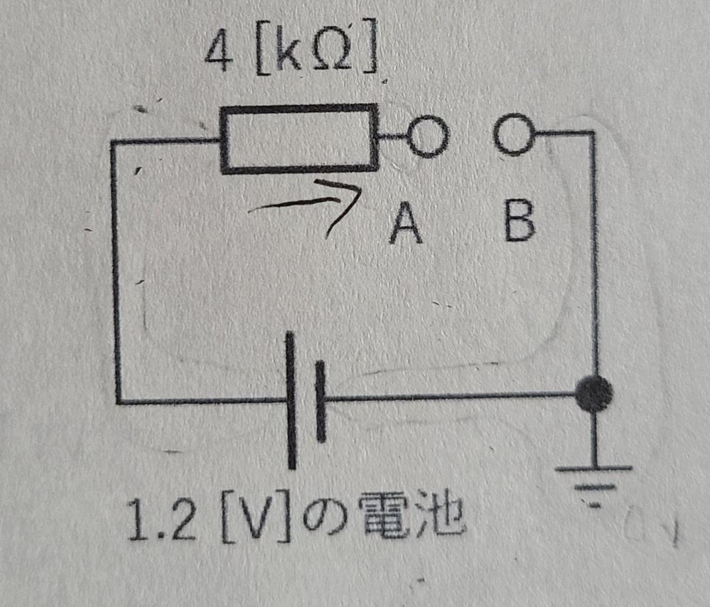 回路の端子Aと端子Bの電圧はどうやって求めるのですか?