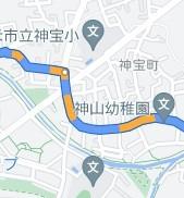 グーグルナビで、添付のようなルートが橙色の道路が表示されます。これは何を意味するのか。 各種表示を増やすのはどうすればいいのでしょうか。