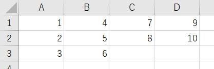 【Excel VBA】配列を元に数字を順番に入力していく方法 buf(1) = 3 buf(2) = 3 buf(3) = 2 buf(4) = 2 という配列を元に、1~10の数字を分け(3/3/2/2)、画像のように入力するにはどうすればいいでしょうか。 ご教示のほど何卒よろしくお願い致します。