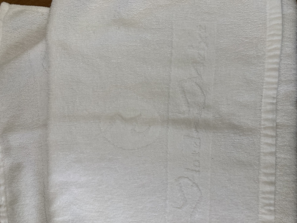 こちらのタオルに書いてあるホテルの名前分かる方いらっしゃいませんか?