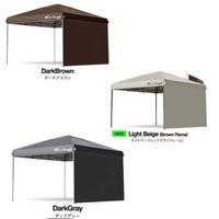 タープテントの色について    写真の ブラウン  ベージュ  ダークグレー の3色で悩んでいます。 白色には虫が寄ってくると聞いたことあるのですが、ベージュも寄ってくるでしょうか?    タープテントの下でプールやBBQをする予定です  なので出来ればタープの下が明るいものがいいなと思っています。暑いのは避けたいです。  茶色だと暗いででしょうか?    ⚫︎できれば...