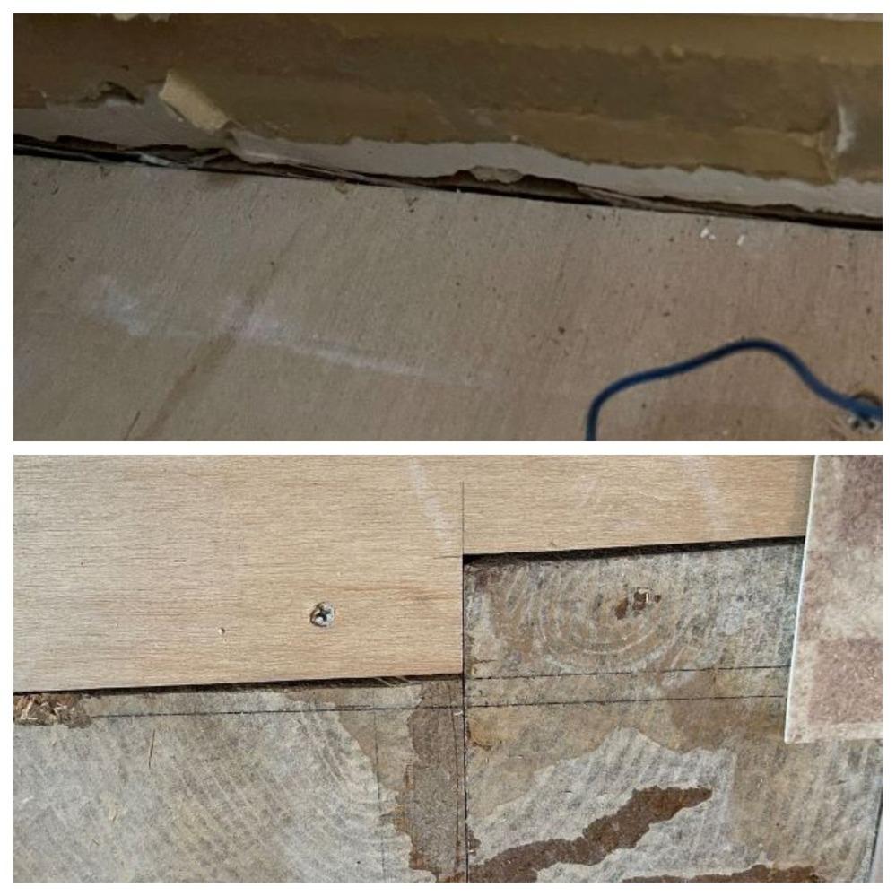 浴室リフォームを工事依頼している者です。 ユニットバス入り口前の腐食部分の大工工事ですが、既存の床材と取り換えた部分の隙間が気になっています。 上からクッションフロアや巾木を貼ってしまえばわからいのでしょうが、こんなものでしょうか? コーキング剤?等で隙間を埋めるなどはしないものですか?