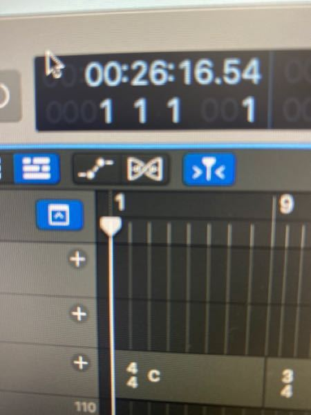 Logicproを使っているのですが、曲の頭に持ってきてもタイムディスプレイがゼロになりません。何故でしょうか?