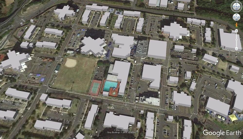 【グーグル・アースがこんなんなっちゃうんです】 見たい建物の屋根・外壁等がご覧のとおりになってしまいます。。。 解除できる方法があればやり方を教えてください。