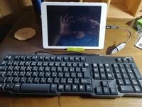 ipad airに有線でキーボードを接続したいのですが、画像の通りに繋いでも全く反応しません。どこを改善したらいいか教えてください‼️