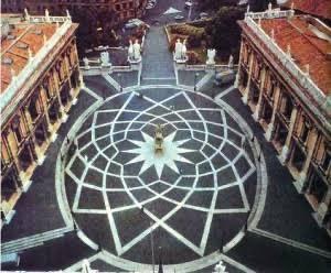 ミケランジェロのカンピドリオ広場の図形の図形の描き方を教えてください。 出来れば、床に描きたいです。