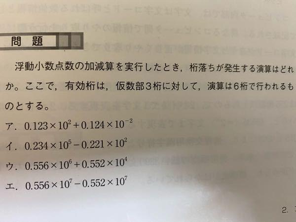 この問題の解き方わかる方いましたら教えてください。 高校情報の桁落ちです。 よろしくお願いします