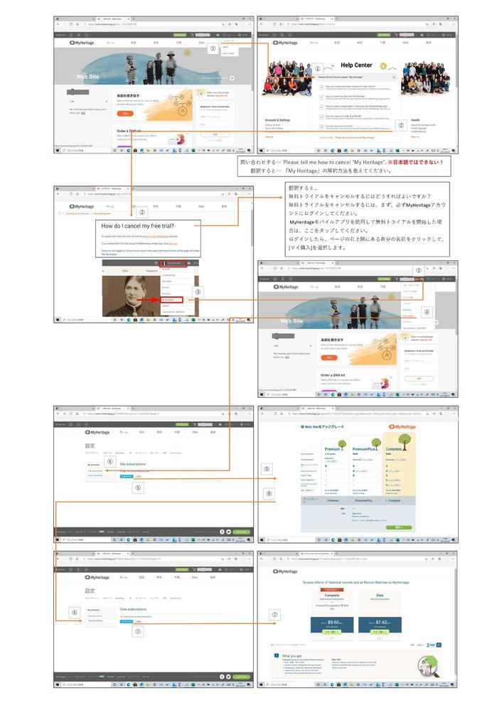 「MyHeritage」を解約しようと思うのですが、MyHeritageのホームページ上からヘルプセンターを通してやってみました。 現在は、わたしは「Site subscriptions」のよう...