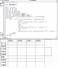 """VBA(Withとオブジェクト変数)について。""""オブジェクトはこのプロパティまたはメソッドをサポートしていません""""というエラーが出ます。間違えているとこに色も付かないので困っています。どこが間違えていますか? シート「練習15」の表データをシート「練習15_回答」に支店別・分類別に集計しろという問題です。"""