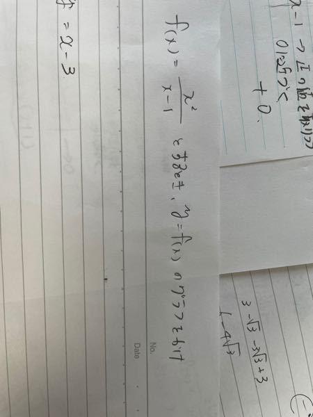 大学の授業をしっかり聞いていましたが、 板書がめちゃくちゃで正しい順序で答えをだす書き方が分かりません。 お手数ですが、どうか丁寧な解答をして頂ければ幸いです。 また、分子が二乗なので、漸近線を...
