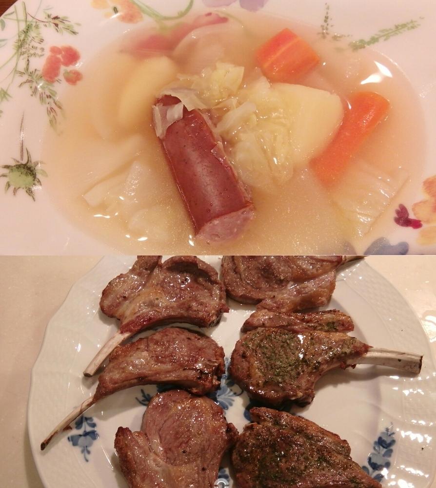 卓球飯。 ポトフとラム肉は卓球にあいますか?