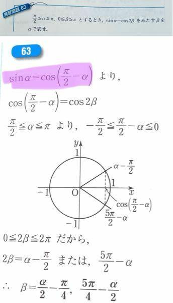 数学 三角方程式 写真のような問題と解説があるのですが何故紫マーカーは成り立つんでしょうか?