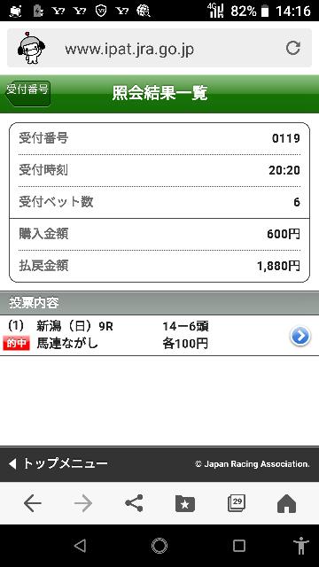 新潟最終 4―12 4―10―12 なにかいますか?