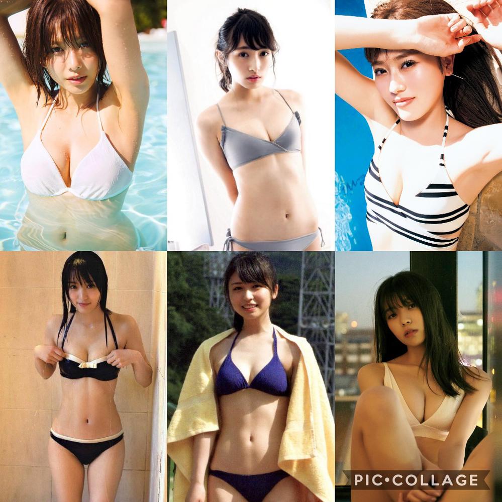 この6人が、写真の水着でグラビアアイドルとして、プールで撮影会をしてくれるとして、誰の枠を選びますか?
