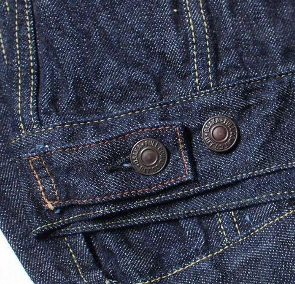 デニムジャケットのボタンは何のためにあるのですか? 後ろの腰のあたりにあるボタンが何のためにあるのか分かりません。名称も分からないのでどなたか教えて下さい!