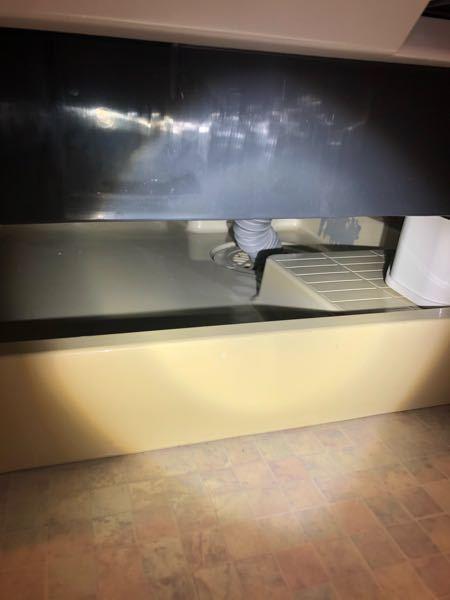質問です。 先日ドラム式洗濯機の下に隙間がなく、排水溝の高圧洗浄ができなかったので、水栓蛇口に当たらない目一杯で6センチかさ上げしました。(写真の通りです) これくらいの隙間があれば高圧洗浄できるでしょうか?ちなみに防水パンは四隅が少し高くなっているタイプで、排水溝の位置から洗濯機の底までは高さが約10センチ程度はあり、排水溝には手を伸ばせば開けられるかなという感じです。