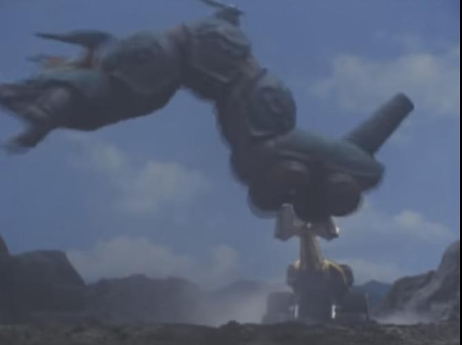 『バトルフォーメーションとなり、地中にいるギドーバを角で持ちあげて叩き落とすカブトロン』 数あるアニメや特撮作品の中で「人型ロボット以外の戦闘形態に複数変形できるマシン」と聞き、思い浮かべたのは何ですか?