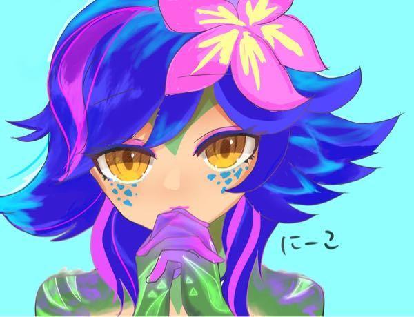 イラスト塗り アドバイス下さい クリスタ使用です 髪の毛がいつも上手くいきません キャラクターはニーコ(LOL)です