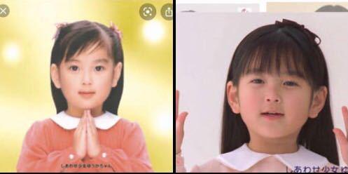 画像の女の子2人は、 同じ子だと思いますか? 私は違う子に見えます( ̄▽ ̄)。