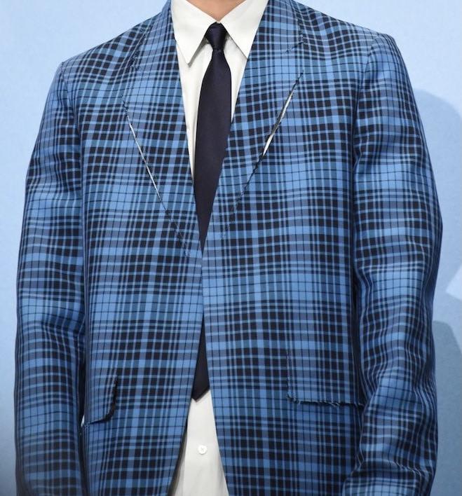 この青いチェックジャケットどこのブランド物か分かる方いませんか?