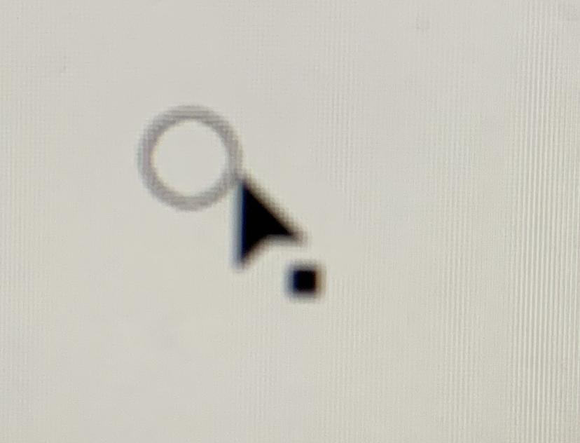 イラストレーターIllustratorの選択ツールの黒矢印の下の黒点を消す方法を教えてください。
