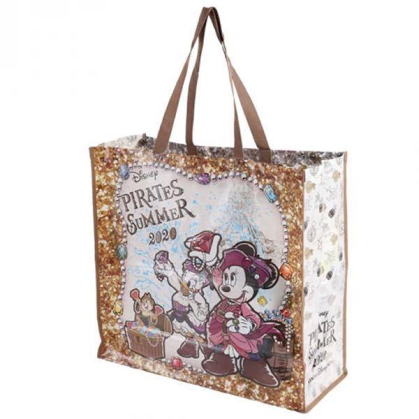 ディズニーシーでショッピングバッグをお土産に買ってきてもらおうと思っていて、2021年デザインが検索しても分からないので、Lサイズのデザインがら全て教えてください こんな感じの袋です