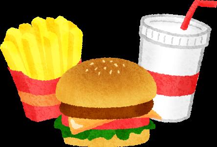ハンバーガーとポテトと飲み物だけで足りますか?