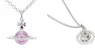 ヴィヴィアンのネックレスはどちらの方が洋服に合わせやすいと思いますか? ピンクは使いづらいですかね?