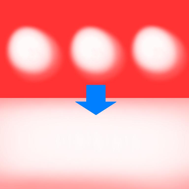 素材?アイテム?の名前が分かりません(T . T) LEDライトとかを光らせたときに、いくつかのライトが光ってるのに、点々と光るのではなく、全体が平等に光るようになる半透明の白い素材の名前をどなたか教えていただかませんか? 語彙力皆無ですみません… 本来画像の上みたいになるところを、上から重ねることで、下のようになるやつです。