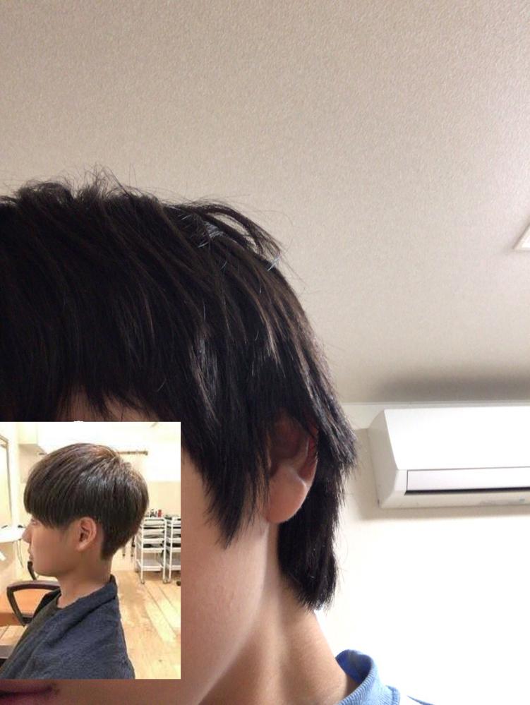 この髪の毛の量で画面左下のようなマッシュにできるのでしょうか? 前髪は目の下あたりまであります。