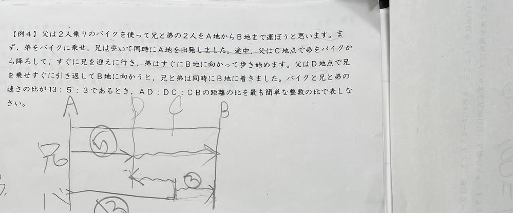 小学生の中学受験の問題なのですが、この問題の答えが25;20:12になる理由がわかりません。教えてください